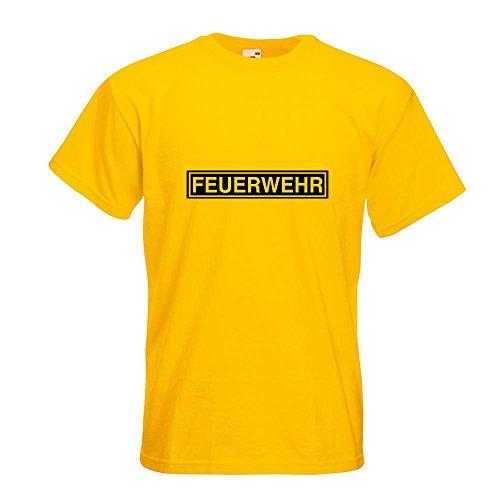 KIWISTAR - Feuerwehr T-Shirt in 15 verschiedenen Farben - Herren Funshirt bedruckt Design Sprüche Spruch Motive Oberteil Baumwolle Print Größe S M L XL XXL Gelb