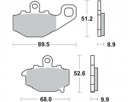 Lucas Brake Pads TRW MCB 662 for KAWASAKI ZX-6R 636 Ninja ZX636B 03-04 (rear)