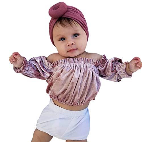 Pink Supergirl Outfit - Realde--Baby Mädchen Langarm Top + Kurz