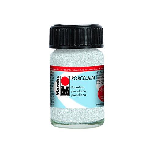 Marabu Jar, Porzellan Farbe, Glitzer Weiß, 2,8x 2,8x 4,2cm