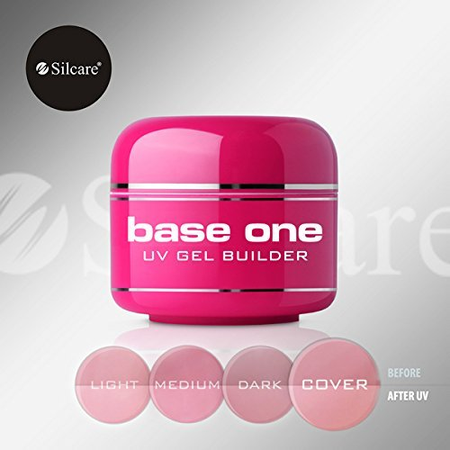 Base Cover (Base One Cover 30g UV Gel French Nails Camouflage Builder File Off Gel Silcare)