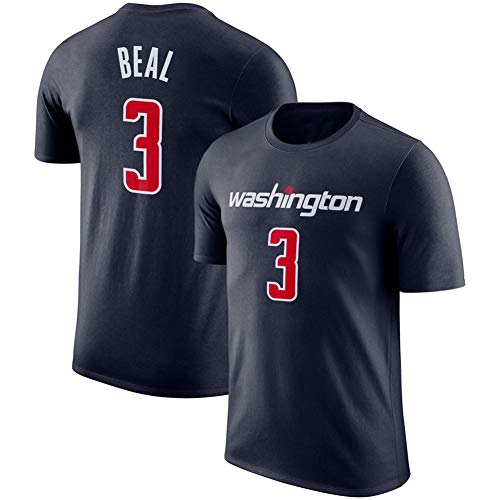 ATI-HSKJ NBA Herren T-Shirt -Bradley Beal # 3 Washington Wizards Basketball Spiel Uniform Hemden Fans Retro Atmungsaktive Top Trikots Anzug,M:165cm~170cm
