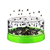 Baiwka Fly Trap Device with Trapping Food, Automatic Caught Fly Killer Fly Trap