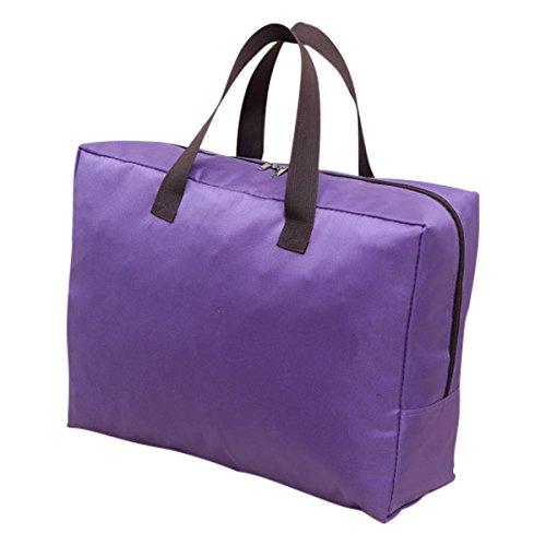 Easehome 100l sacchetto di immagazzinaggio impermeabile, borse di stoccaggio con cerniere e manici forti per trapunte coperta biancheria da letto comforter cuscini sacchetti, purpureo