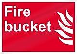 Eugene49Mor Fire Bucket Fire Eimer, Aluminium, 35,6 x 25,4 cm, UV-geschützt und Wetterfest