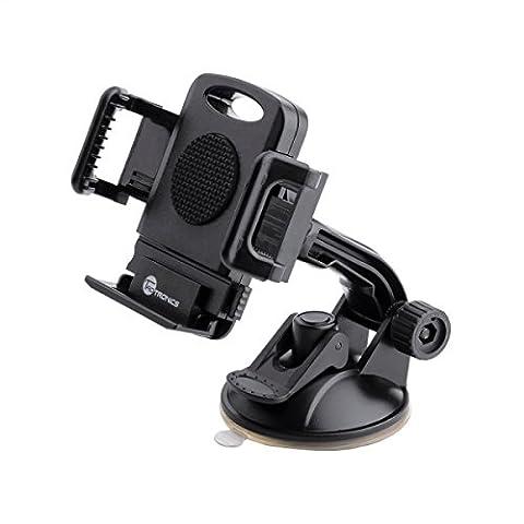 TaoTronics Auto Handyhalterung TT-SH08 (Universal für Smartphone Galaxy s6, s5, s7 edge, Iphone 6, 6s, 6s plus, 5, 5s Lumia, G5, Z6 usw) schwarz