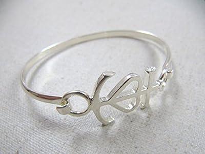CDBCDCBRJ01 - Bracelet jonc croix de camargue - laiton finition argent 925