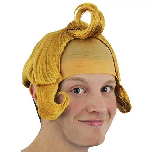 DE/GINGER MUNCHKIN PERÜCKE MIT STOFFEINSATZ DIE KAPPE IST 60cm (Munchkins Kostüme)