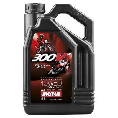 Motoröl Competition Motorräder - Motul 300V2 4T Factory Line Road Racing 10W-50, 4 liter