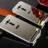 OST Original Aluminium Bumper + Electroplating Mirror Back Case Cover for Asus Zenfone 2 Laser 5.5
