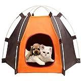 Portátil carpa plegable casa del sol perro, fuentes del animal doméstico lavables y resistentes a prueba de agua al aire libre tienda de vivienda para mascotas perros y gatos pequeños