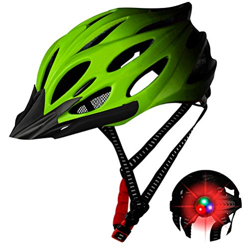 BYJIN Casco de Ciclismo Casco todopoderoso De una Pieza La montaña Autopista Bicicleta Casco Traje Sombrero Duro Unisex Color Cambio Gradual