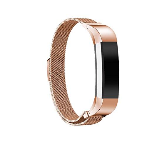 MagiDeal Fitness Edelstahl Armband mit Magnet Verschluss für Fitbit Alta