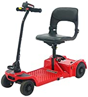 Pro Rider Easy Fold Deluxe Mobility Scooter, Red