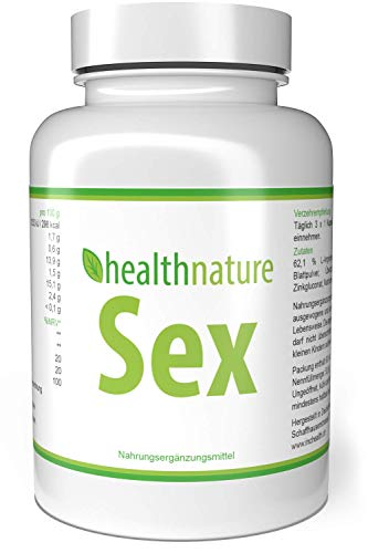 healthnature Sex = Vegane Kapseln = Sperma, Leistung, Testosteron -