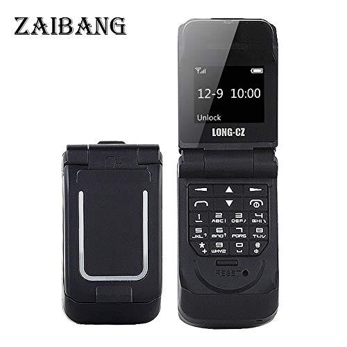 Long CZ J9 Das kleinste Blutooth-Telefon Mini-Flip-Telefon 2G GSM-Kunststoff-Geschenk Voice Changer 3 in 1 Bluetooth-Headset Dialer 18g (Schwarz) -