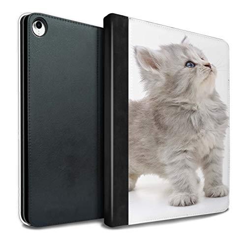 eSwish PU-Leder Hülle/Case/Brieftasche für iPad Pro 10.5 (2017) Tablet/Neugieriges Kätzchen Muster/Süße Kätzchen Kollektion -
