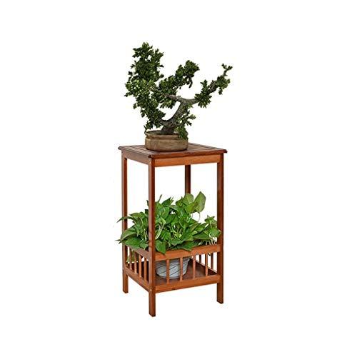 IDWOI Soporte para Flores Soportes De Plantas Bambú Interior Soporte para Macetas De Pie Exterior Decorativo