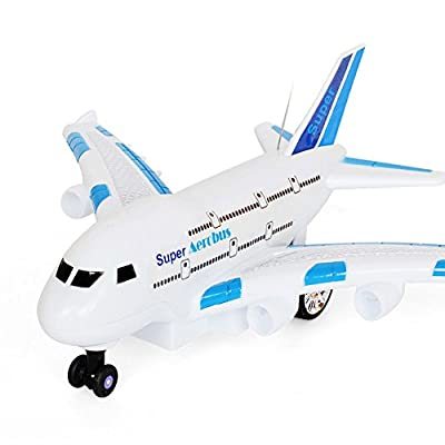 Cido Remote Control Airplane Long Distance Fixed Wing Plane Outdoor Drone Toys Random Color