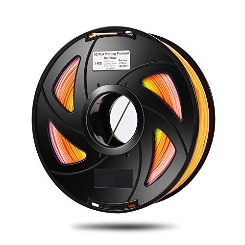 IanqAzwibvd-UK 3D Drucker Filament PLA Filament 3D Kunststoff Filament1.75mm PLA 1kg / Rolle Schwarz
