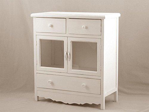 Credenza Con Vetrinetta : Credenza in legno bianco con vetrinetta cm