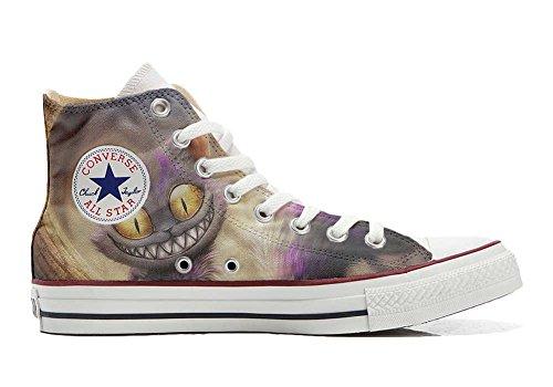 Converse All Star personalisierte Schuhe (Custom Produkt) Katzenaugen - Size EU39