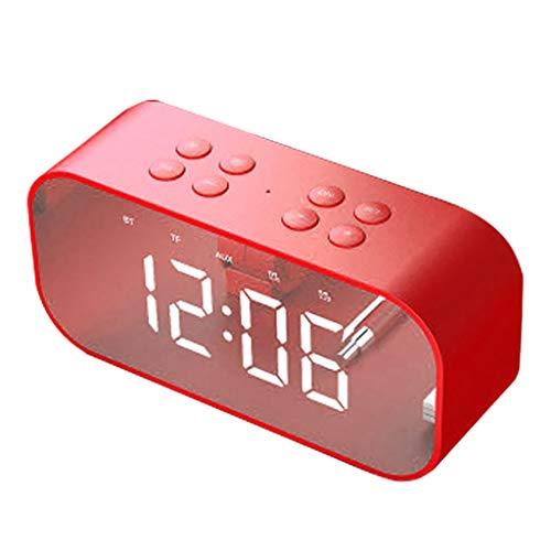 """Laile Bluetooth-Lautsprecher BT510 Großer Wecker mit TF-LED-Ziffernanzeige mit Dimmer Extrem großer Bildschirm mit 1,8""""roter LED-Anzeige,Wecker mit USB-Port-Backup,Sleep Timer"""