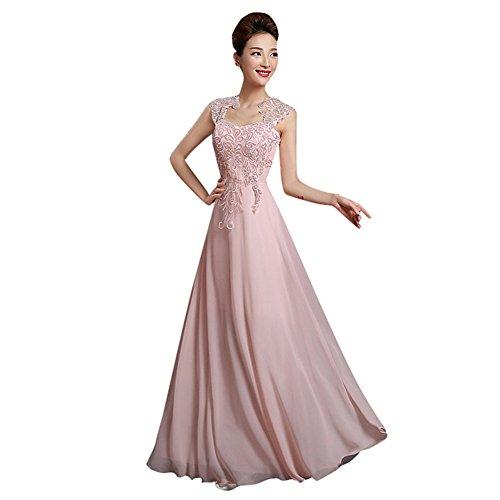 Drasawee Damen Empire Kleid Rose