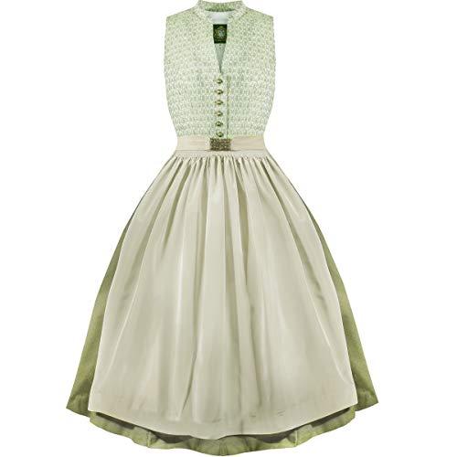 Hammerschmid Damen Trachten-Mode Midi Dirndl Tegernsee in Grün traditionell, Größe:50, Farbe:Grün