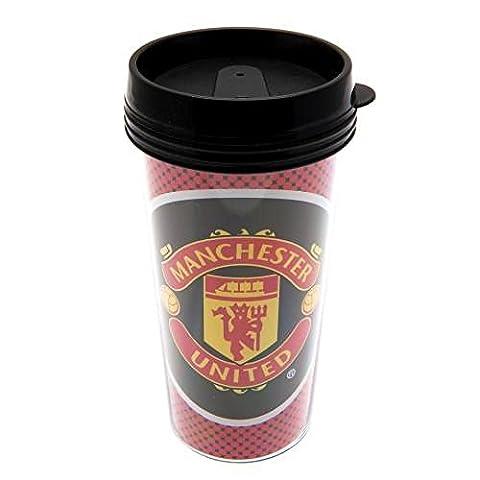 Manchester United FC Becher für unterwegs, Kunststoff, ideal zum Geburtstag oder zu Weihnachten, Geschenk für Herren und (Manchester Zu Weihnachten)