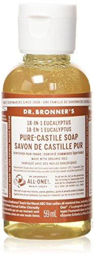 Bronners Magic Soaps Kastilien Seife (Dr. Bronner's Liquid Soap Eucalyptus, Flüssigseife Eukalyptus 59 ml)