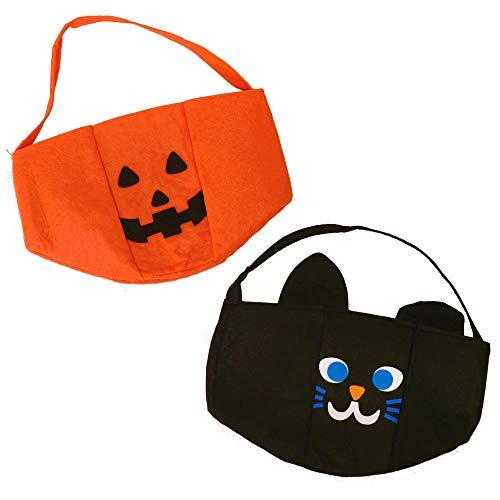 trendaffe Halloween Korb für Süßigkeiten - Halloweenkorb Halloween-Korb