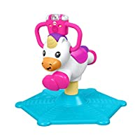 Fisher-Price GHY50 Bounce and Spin Unicorn, Stationary Musical Ride-On Toy, Multi-colour