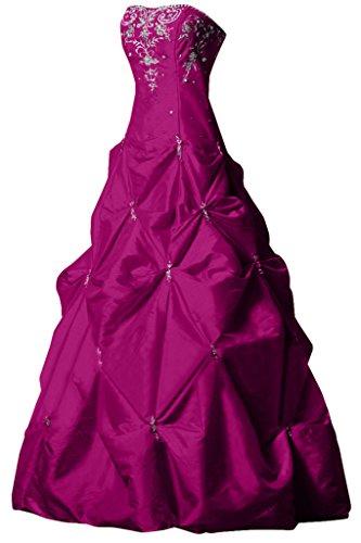 Sunvary elegante a-line Sweetheart lungo Satin quinceañera abito da ballo del vestito da sera Fuchsia