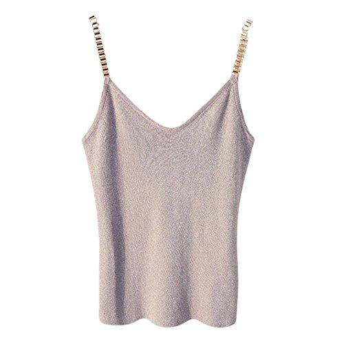 EFINNY Women Knitted Crochet Vest Camisole Tank Top Deep V Bralette Crop Tops Beachwear apricot