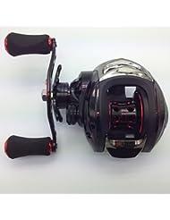 Carretes de lanzamiento 6.3:1 10 Rodamientos de bolas Zurdo Pesca de baitcasting / Pesca de agua dulce / Pesca de Cebo - MD200LA FLK