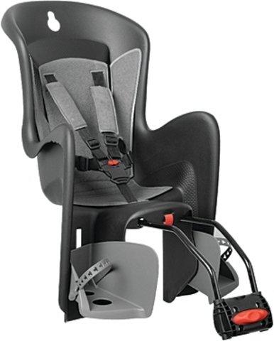 """POLISPORT Kindersitz \""""Bilby QST\"""" Schale: schwarz, Bezug: dunkel grau - Tragfähigkeit bis max. 22 kg"""