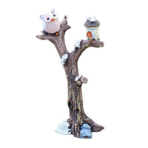 Kanggest 1pcs Miniatura de Ramas y búhos Accesorios de Jardín Decoración Bonsais...