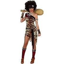 Atosa - Disfraz de cavernícola para mujer, talla 42 - 44 (10123)