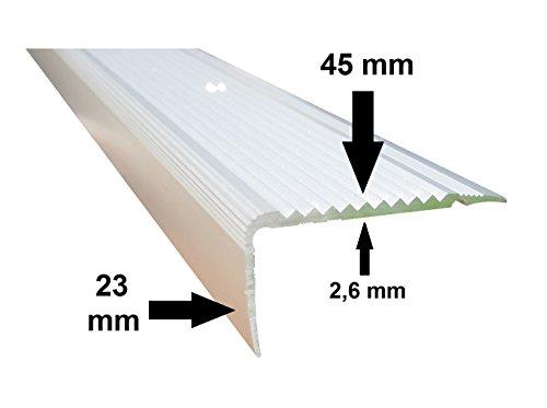 Alu Treppen Treppenstufen Profil Winkel Treppenkantenprofil 250cm x 25mm x 9mm