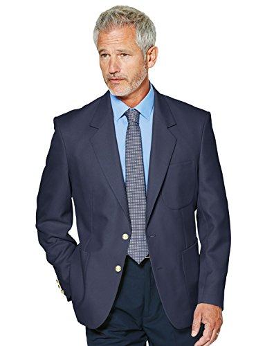 Chums Klassischer, normal geschnittener einreihiger Oxford-Blazer für Herren Blau UK 54 / EU 64