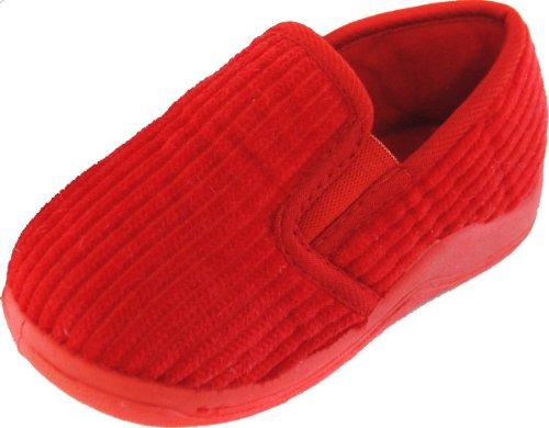 Toms Kinder, Größe 4 Schuhe (Tom Franks , Jungen Hausschuhe, Rot - rot - Größe: 4 Child UK)