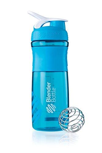 BlenderBottle Sportmixer Tritan Shaker | Protein Shaker| Wasserflasche| Fitness Shaker | BPA frei | mit BlenderBall | 820ml - aqua (Blender-ball-sport-mixer)