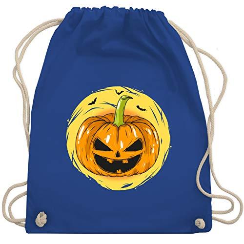 n Kürbis Gesicht - Unisize - Royalblau - WM110 - Turnbeutel & Gym Bag ()