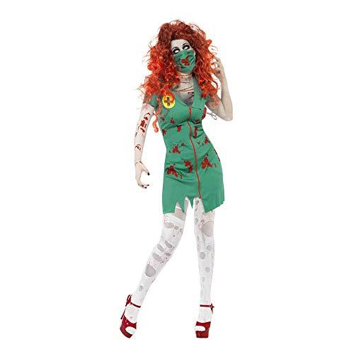 Kostüm Weibliche Joker Der - Halloween Cosplay Kostüm Erwachsene Cosplay Horror Blutige Weibliche Polizei Zombie Kostüm Geisterbraut Krankenschwester Zombie Kostüm Nonnen Geeignet Für Karneval Thema Parteien,Green,M