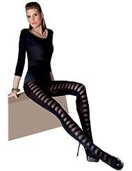 Collant noir opaque 60 deniers fantaisie sexy Doren