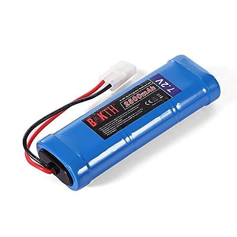 BAKTH rechargeables Ni-MH batterie 7.2V 2500mAh Cellules 6 pour les voitures RC + BAKTH Coaster comme cadeau