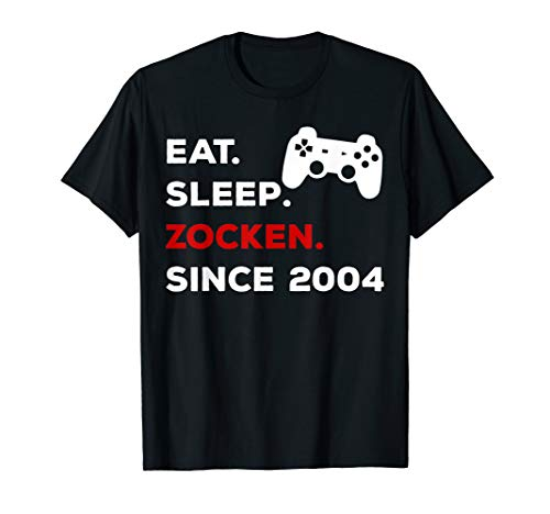 15. Geburtstag 2004 Geschenk Shirt für Gamer Zocker Teenager -