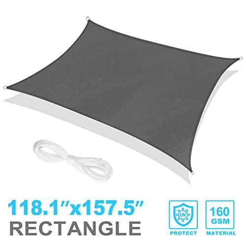 RATEL 3 x 4 m graues Sonnensegel Rechteckig, 95% UV Schutz Sonnenschutz wasserdicht sonnensegel für Draußen, Patio, Garden Lawn, Garten Balkon, Terrasse Pergola Decking