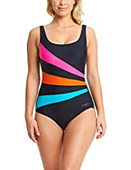 Zoggs Women's Sandon Scoopback Swimsuit with Foam Cups and Tummy Control